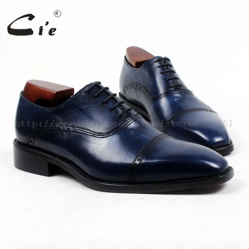 cie Square Cap-Toe Bespoke Custom Handmade Pure Genuine Calf Leather Men's Dress Oxford Lacing Office Color Navy Flat Shoe OX422 купить часы haas lt cie mfh211 zsa