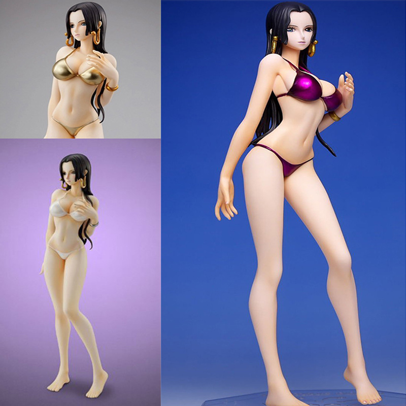 2017 new anime pvc limited edition pop one piece swimsuit Boa Hancock action figure sexy princess model toy collectibles gift anime one piece dracula mihawk model garage kit pvc action figure classic collection toy doll