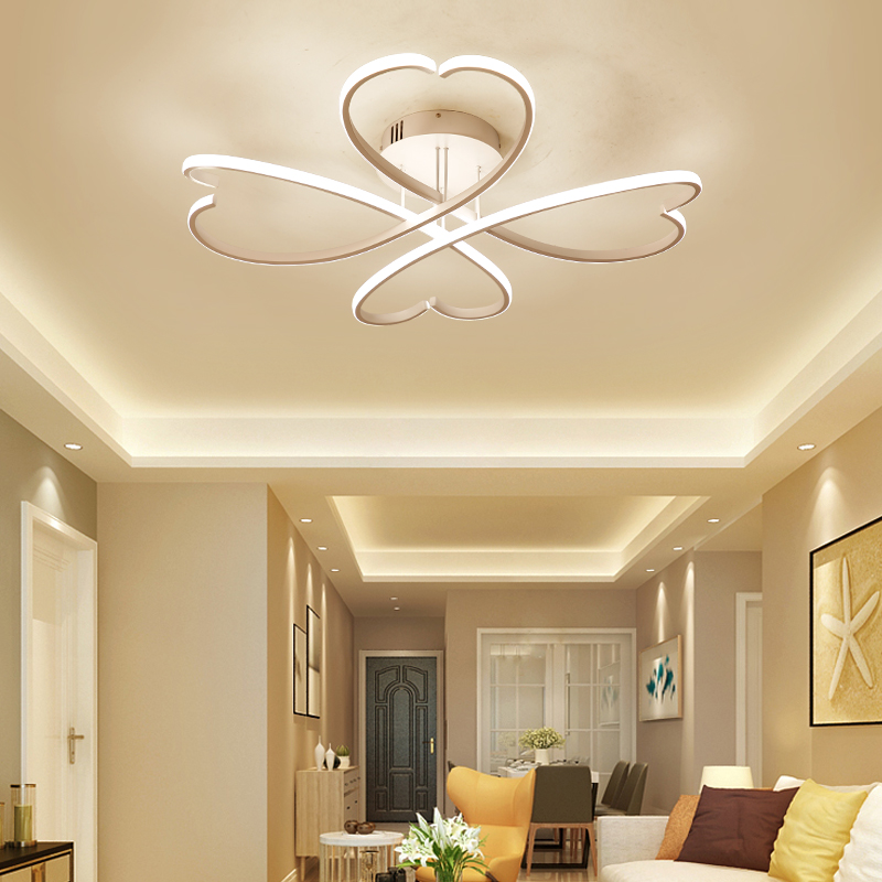Rectangle Bedroom Living Room Modern Led Ceiling Lights White Color Square Rings Study Room Ceiling Lamp Fixtures AC85-265V