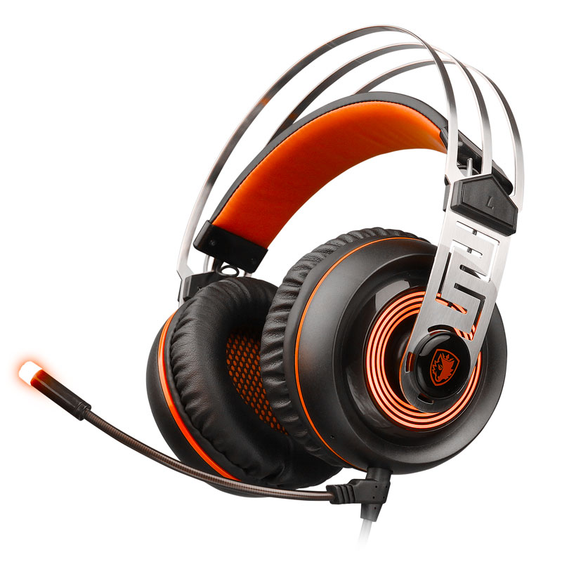 2017 New SADES A7 Profession Gaming Headset USB 7.1 Surround Sound Stereo Wired Headphone With LED Microphone For PC Laptop Game sades a60 alloy stereo 7 1 surround pro gaming headphone usb headband pc noteboo