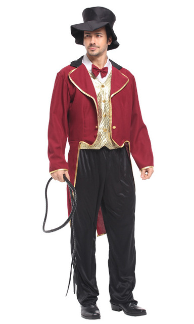 shanghai story mens cosplay christmas circus animal trainer clothes stage costume adult movies halloween clothes - Christmas Movie Costumes