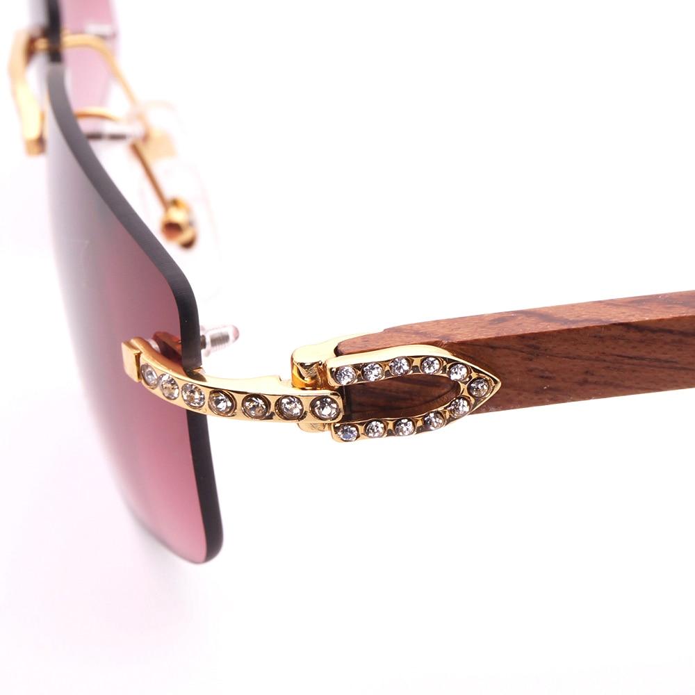 2018 Carter glasses Wood Sunglasses Men Sun Glasses Luxury diamond Eyewear Rimless wooden frame Eyeglasses Men for women luxury wooden sunglasses men 2018 wood sunglass man wood frame vintage brand designer sun glasses for men sunglasses women m218