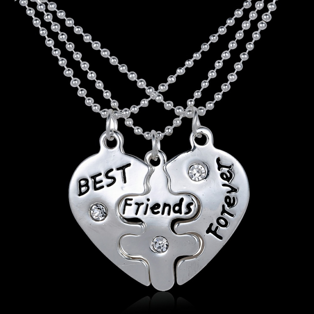 3P Vintage Puzzle Hand stamped Best Friend Forever Gifts ...