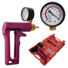 QILEJVS Cars Motorcycles Hand Held Vacuum Tester Pump Brake Bleeder Gauge Tool Kit