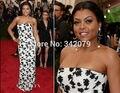 Ph15758 Тараджи Хенсон P бисера в черные платья плюс женщины платья 2015 Met Gala пром платья в плюс размер