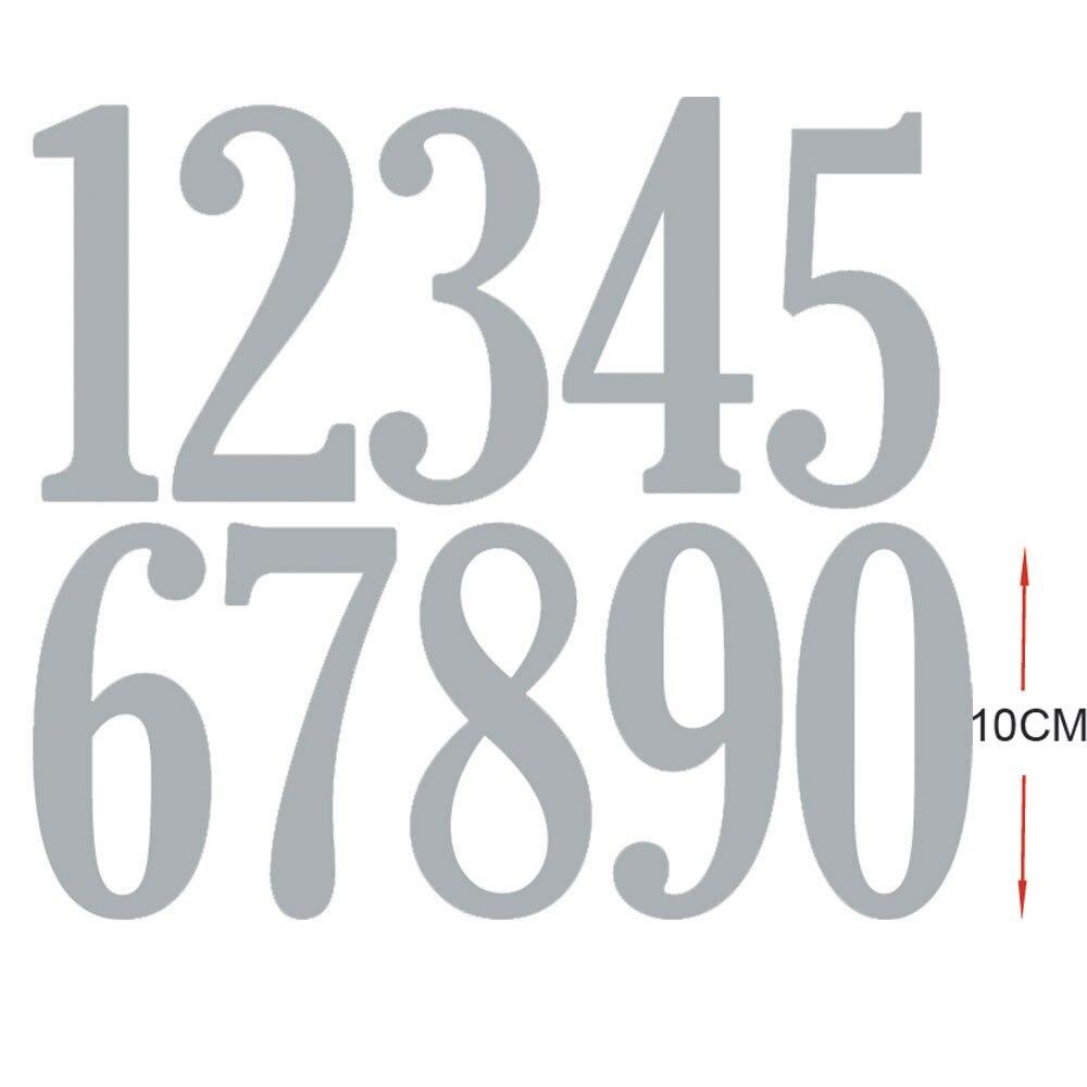 Estel 10 см/4 дюйм(ов) 0-9 номеров металлические режущие штампы для изготовление скрапбукинга 2019 Новое поступление тиснение заготовки для выреза...