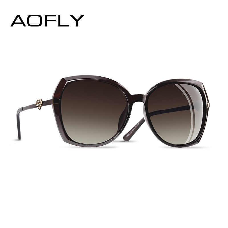 AOFLY ยี่ห้อออกแบบเพชรหรูหราผู้หญิง Polarized แว่นตากันแดดแฟชั่นผู้หญิงแว่นตากันแดดหญิงแว่นตาแว่นตา