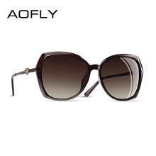 Aofly marca design diamante forma de luxo feminino polarizado óculos de sol moda senhoras óculos de sol feminino gradiente óculos