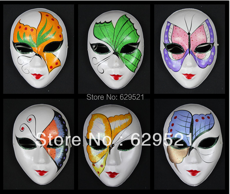 75g Halloween Mask Colored Drawing Masquerade Masks Beauty Mask