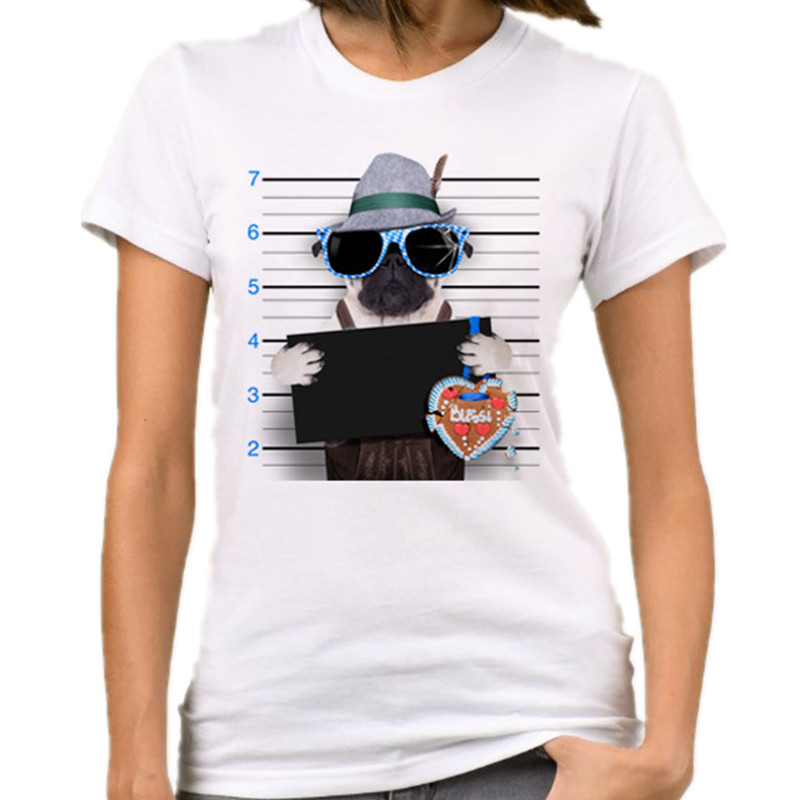 Women Funny Letter Printing Casual T Shirt 34