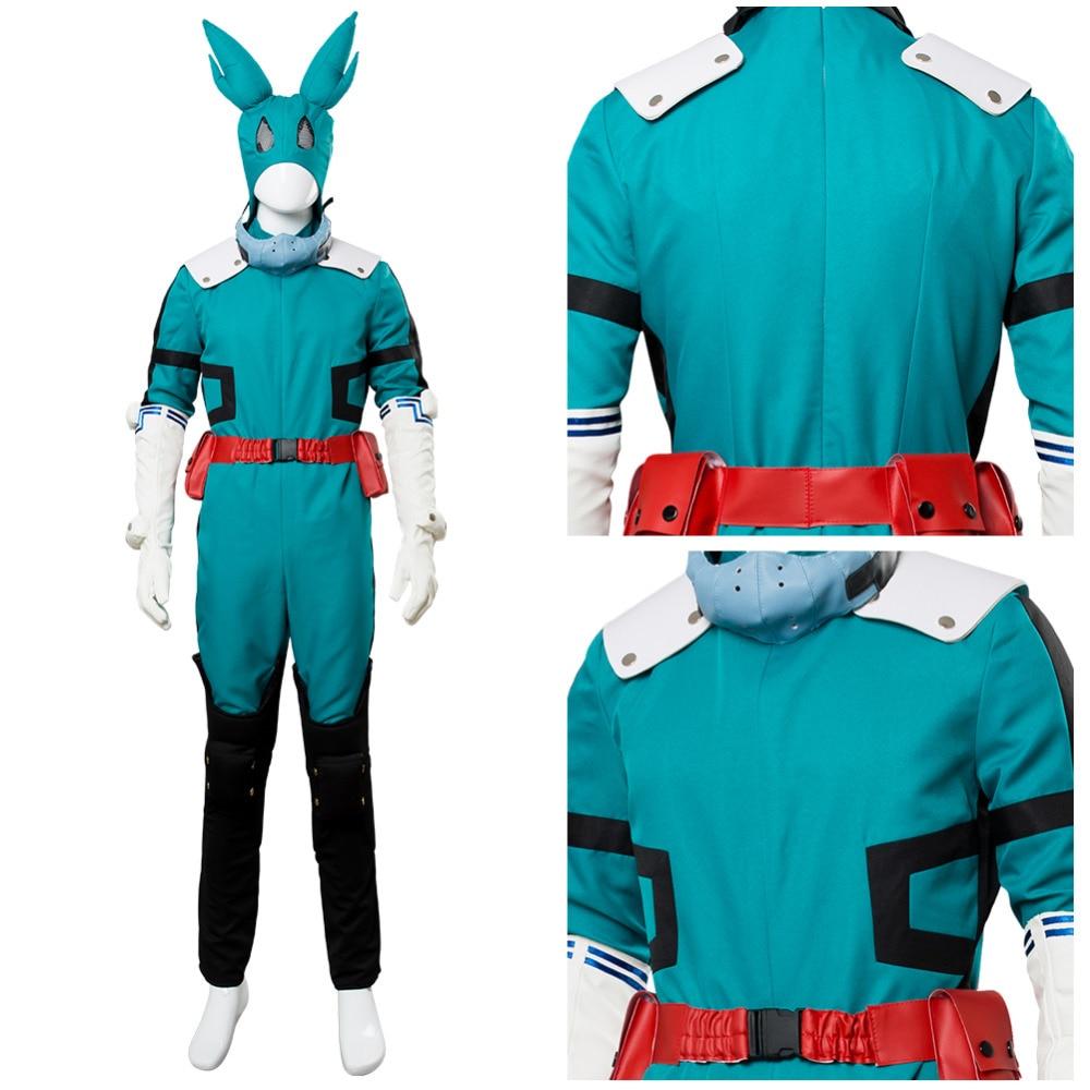 Boku no Hero Academia My Hero Academia Season 2 S2 Izuku Midoriya Cosplay Costume Battle Suit New Version Halloween Carnival