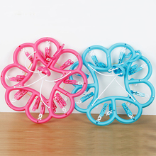 Plastic hangers for clothes rack multifunctional plastic circle underwear socks laundry folder small clip disc racks
