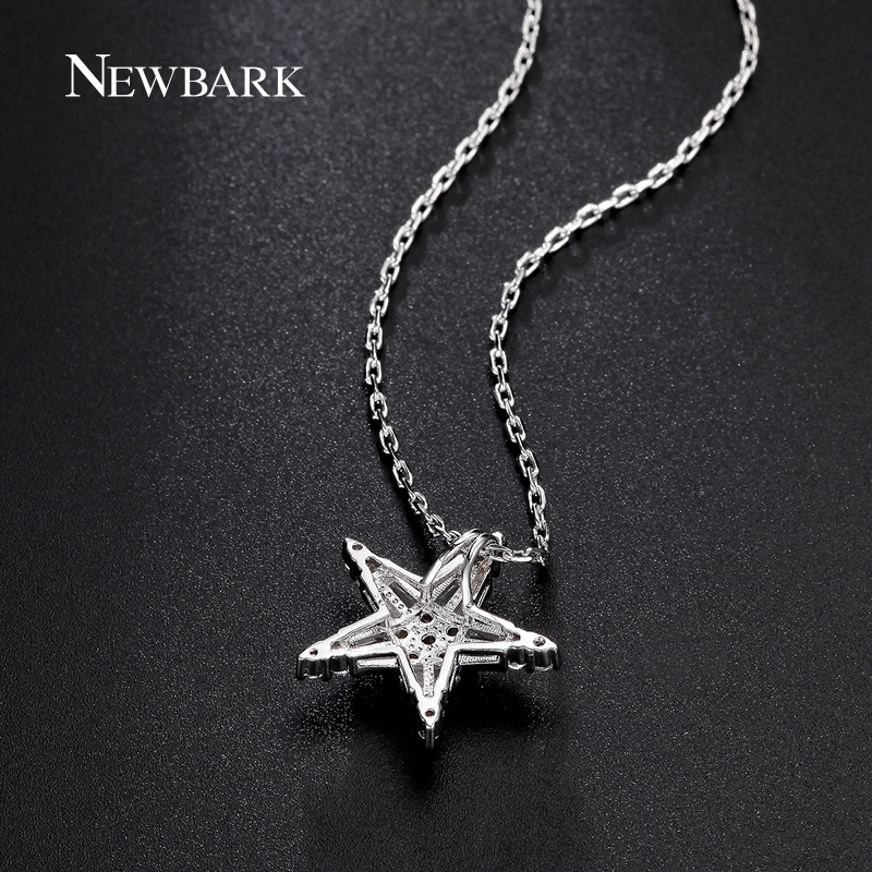 Newbark simple design star necklaces pendants silver color cubic newbark simple design star necklaces pendants silver color cubic zirconia women necklace female fashion accessories in chain necklaces from jewelry aloadofball Images