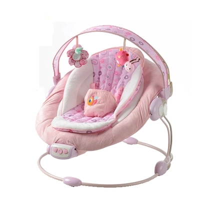 ec0f105ea24f Baby Bouncer Chair Pink Shower With Back And Armrests Rubber Rail ...