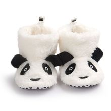 2017 Winter Cute Panda Animal Style Baby Boots Fleece Worm Cotton-padded Shoes Baby Booties Infant Toddler Shoes