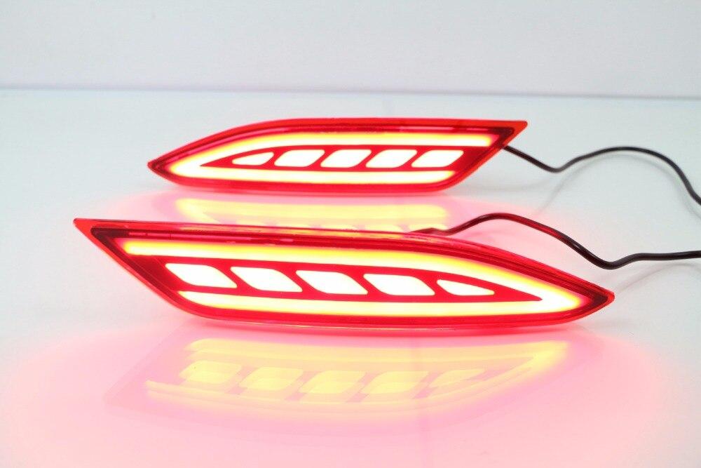 Светодиодные задние бампера света с 3 функциями (управление светом + стоп-сигнал + движущиеся сигналы поворота) для Хонда HR-V и vezel низкое 2015-16