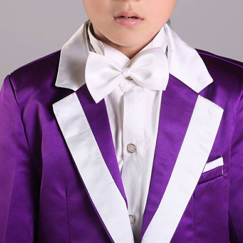 New Arrivals 2015 boys tuxedo purple Performance clothing for kids ...