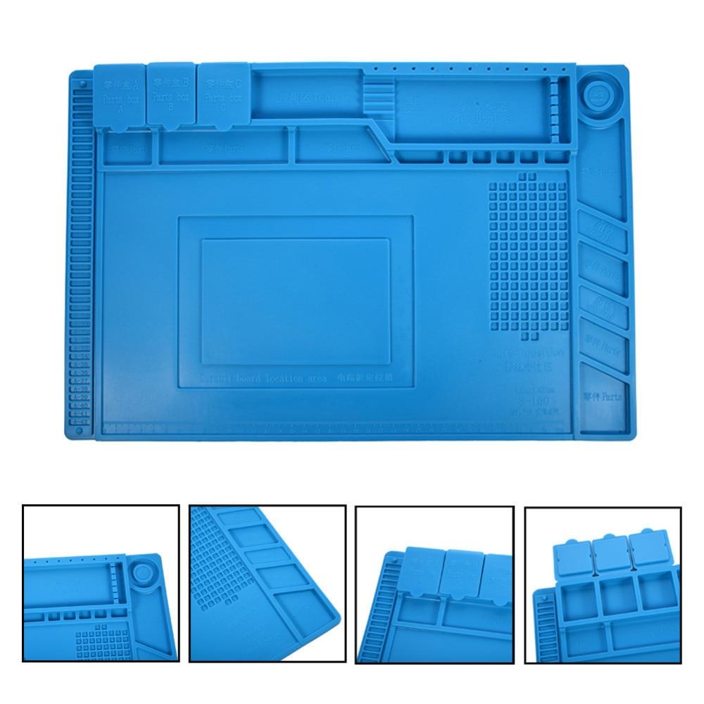 ESD Heat Insulation Working Mat Heat-resistant BGA Soldering Station Repair Insulation Pad Insulator Pad Maintenance 45x30cm