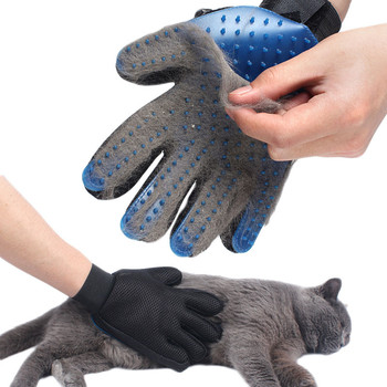 Pet Glove For Cats Cat Grooming Pet Dog Hair Deshedding Brush Comb Glove For Pet Dog Finger Cleaning Massage Glove For Animal dog glove pet cat hair remover brush suede anti bite cleaning massage pet grooming glove puppy cats dogs hair deshedding combs