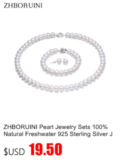 HTB1J8hgbWmgSKJjSsplq6yICpXaR ZHBORUINI 2019 Pearl Necklace 925 Sterling Silver Jewelry For Women 8-9mm Crystal Ball Natural Freshwater Pearls Pearl Jewelry