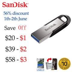 SanDisk 100% оригинальные ультра чутье флеш-накопитель USB 3,0 16 ГБ 32 64 128 ручка привода высокая скорость Memory Stick