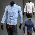 2016 Sale Camisas Shirts Men Dress Shirt New Brand Design Long Sleeve Slim Fit Casual Formal Mens Office Camisa Masculina T305