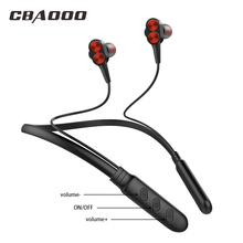 CBAOOO Bluetooth casque sans fil écouteurs bande de cou musique stéréo Bluetooth casques basse sans fil écouteur avec micro pour téléphone