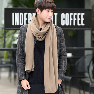 Warm Scarf Cashmere Winter Knitted Male Long-Size Thick Men