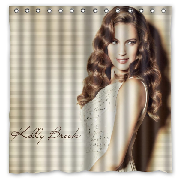 Kelly Brook Pattern Creative Bath Shower Curtains Bathroom ...
