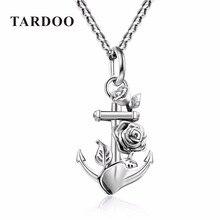 Tardoo Véritable Sterling Argent Suspension Colliers pour Femmes Anchor & Fleur De Mariage Pendentif Colliers Argent 925 Bijoux 2017