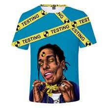 2019 New design t shirt men  marvel ASAP ROCKY 3D print t-shirts MAN Short sleeve Harajuku style tshirt tops US SIZE