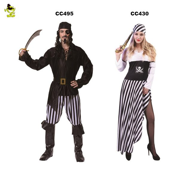 new cosplay couples dress party costumes deluxe pirate costume adult cosplay halloween fancy costumes for lady man role play