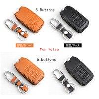 Genuine Leather Key Chain Case For VOLVO Xc60 S60L V40 V60l S80L XC90 Check The Shape