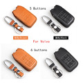 genuine leather key chain case for VOLVO xc60 S60L V40 V60l S80L XC90 (check the shape before ordering pls)