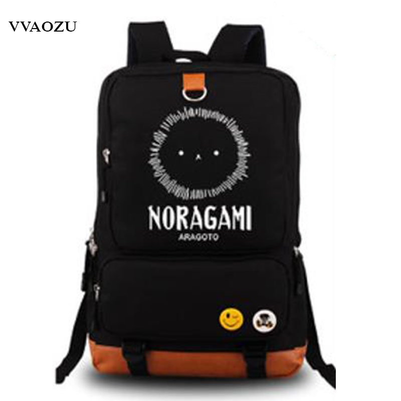 Japanese Anime Noragami Luminous Printing Backpack School Bags Leisure Teenagers Shoulders Bag Backpacks for Laptop fairy tail shoulders school bags anime canvas luminous printing backpack schoolbags for teenagers mochila feminina