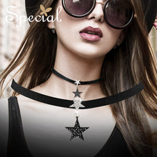 Special Fashion Gothic Choker Necklace Black Maxi Necklace ShinningStar Trendy Girls Jewelry Gifts for Women S2701N все цены