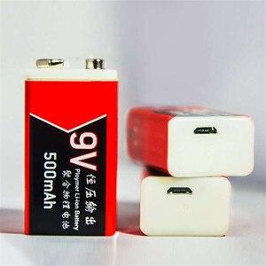 Image 3 - 20PCS USB di Ricarica 9V 500mAh Li Ion Batteria USB batteria Ricaricabile 9v al litio per Multimetro Microfono Giocattolo A distanza di Controllo KTV