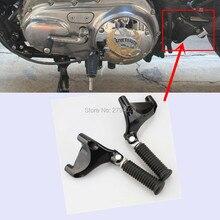 Черный Задний Пассажирский Ног Peg Подножек Педали Крепление Комплект Для Harley Sportster 883 1200 04-13 Бесплатная Доставка