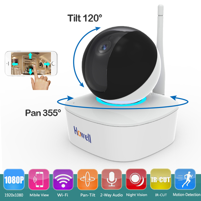 Wireless HD 1080P Wifi IP Camera for Home Baby Monitor Surveillance Camera with Night Vision Pan/Tilt Two-Way Audio SD Card Slot