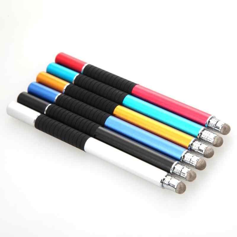 قلم 2 في 1 متعدد الوظائف ذو طرف مستدير رقيق قلم شاشة تعمل باللمس قلم ستايلس بالسعة لباد آيفون جميع الهواتف النقالة والكمبيوتر اللوحي