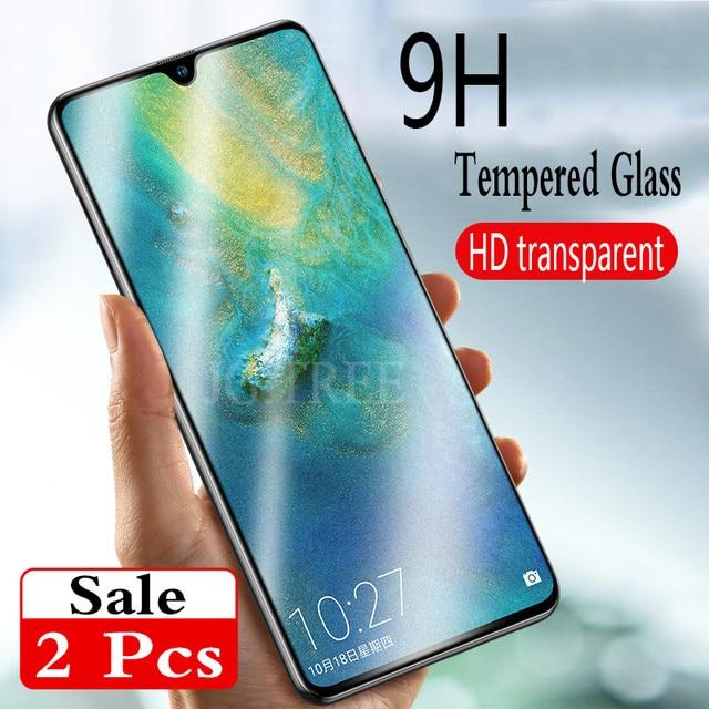 2 Pcs chất lượng Cao tempered glass đối với huawei P20 lite P20 Pro P20 bảo vệ Màn Hình cho huawei honor 8x honor 10 lite glass phim
