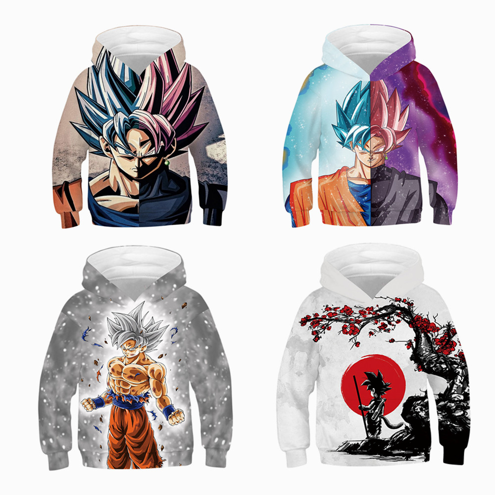 Anime cosplay Dragon Ball Z T-Shirt baby boys Casual hoodie Super Saiyan Son Goku Air Tee Clothes Tops kids baseball uniform