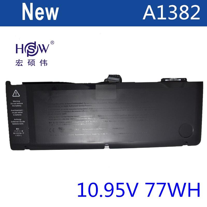 HSW laptop battery for APPLE A1382,020-7134-01,661-5844 MC723LL/A & MC721LL/A A1286 FOR Macbook Pro 2011 version bateria akku hsw brand new 96wh 11 4v c32n1415 li ion laptop battery for asus zenbook pro n501vw ux501jw ux501lw