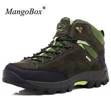 Mangobox открытый Мужская обувь против скольжения Для мужчин S Альпинизм Ботинки износостойкая Для мужчин S треккинг Ботинки Одежда высшего качества Военное Дело Мужские ботинки