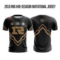 2018 LOL Mid Season Invitational Champions RNG t shirt Men Uzi t shirt Chinese Team Royal Never Giveup Team Jersey Uzi t shirt