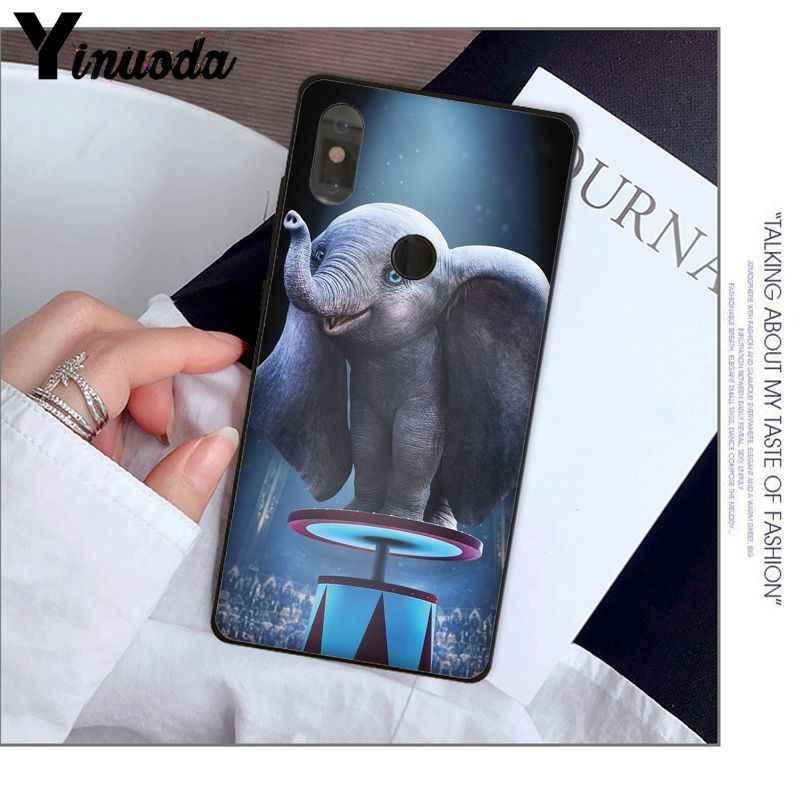 Yinuoda חמוד דמבו פיל קטן שחור TPU רך טלפון כיסוי עבור אדום mi 5 בתוספת הערה 5 Xuiao mi mi 8 8SE 6 mi X 2 2 S נייד מקרי