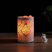 natural himalayan Crystal salt lamp Light Mood Creator led Air Purifier Creator Indoor lava decor table light bedside