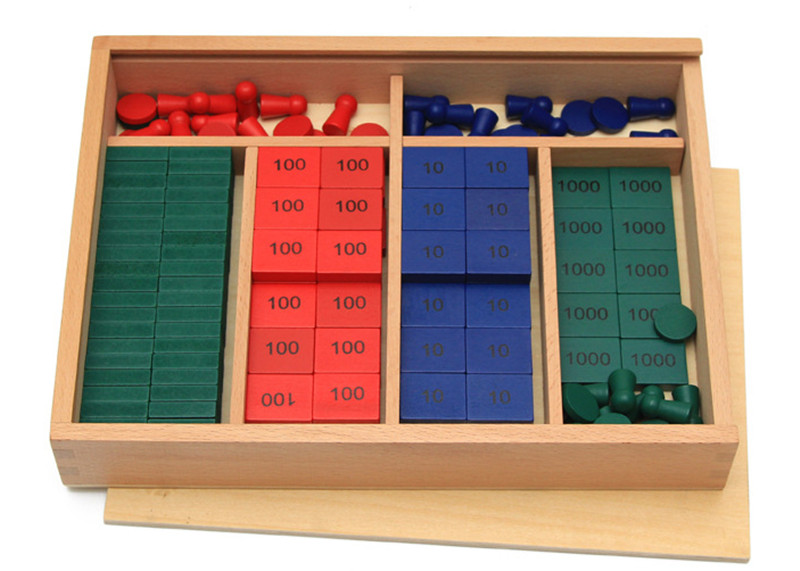New Wooden Baby Toy Montessori Maths Teaching Aids Stamps Game Early Educational Toy Baby Gifts