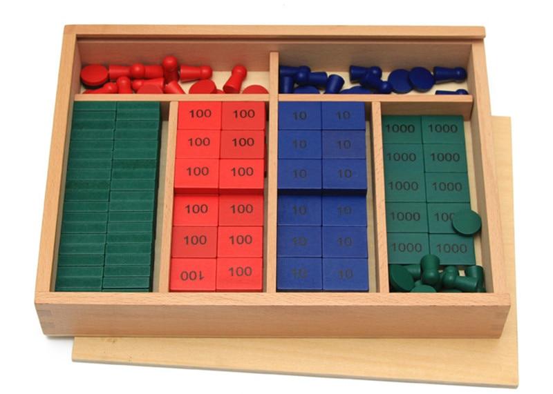 Nouveau En Bois Bébé Jouet Montessori Mathématiques Enseignement Sida Timbres Jeu Au Début Jouet Éducatif Bébé Cadeaux