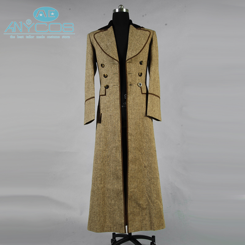 Who is Doctor Dr. Ecru Brown Uniform Long Trench Coat Jacket Suit Spring Autum Halloween Cosplay Costume For Men Custom Made
